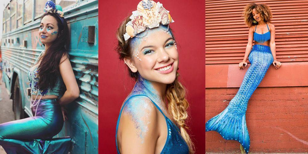22 Easy Diy Mermaid Costumes Best Mermaid Costume Ideas For Women