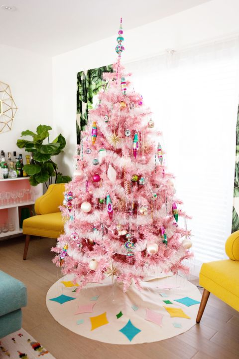 Pink Christmas.10 Best Pink Christmas Trees Gorgeous Pink Tree Ideas For