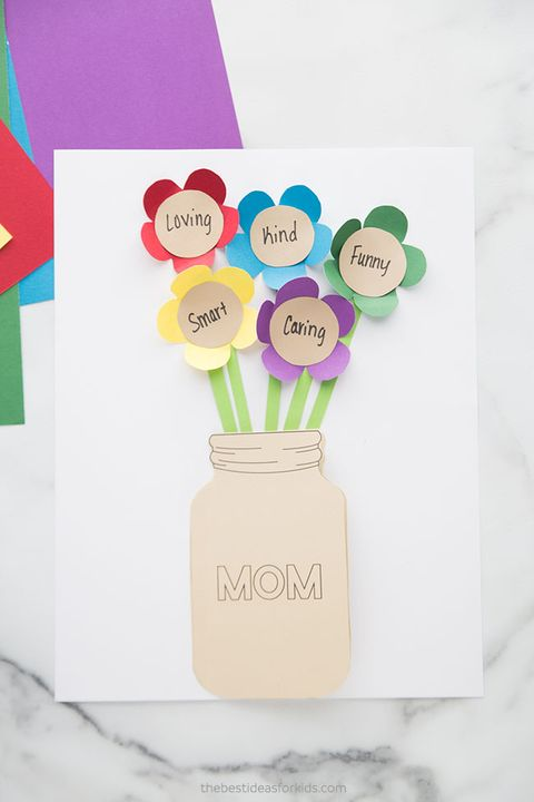 diy mothers day cards  superlative flower bouquet