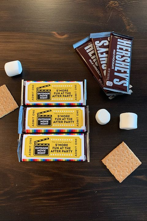 diy movie night printable admit one tickets smore ticket