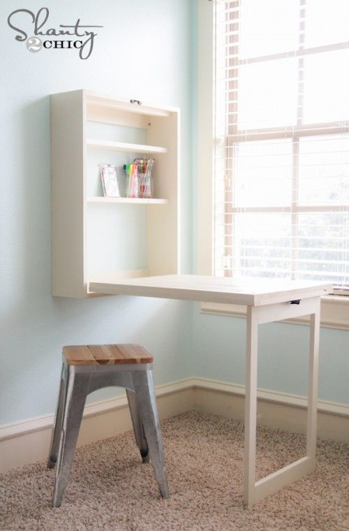 15 Diy Desk Plans For Your Home Office How To Make An Easy - How To Make A Fold Down Table