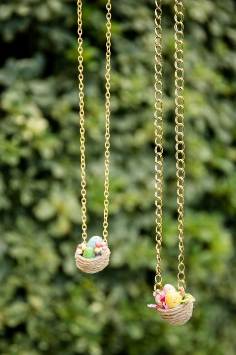 diy easter egg nest necklaces