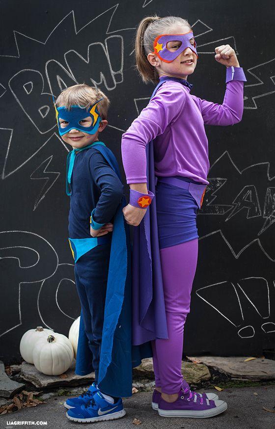 diy superhero costumes & 15 DIY Superhero Costumes - How to Make a Superhero Halloween Costume