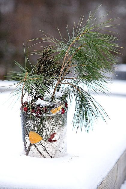diy outdoor christmas decorations holiday ice lantern