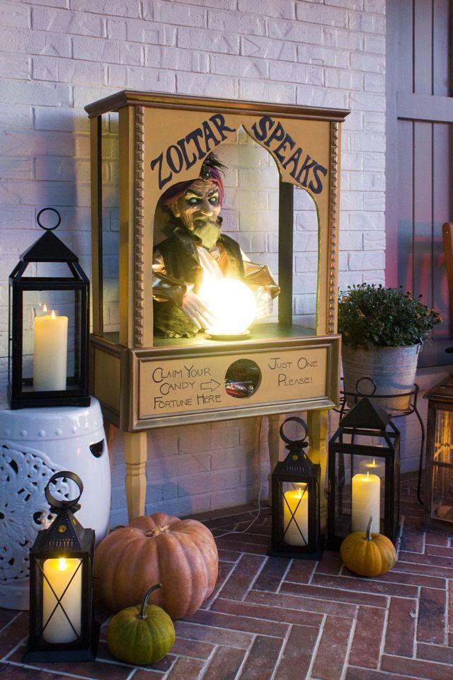 diy outdoor halloween candy holder
