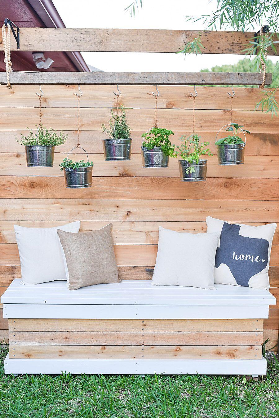 diy storage bench small backyard project