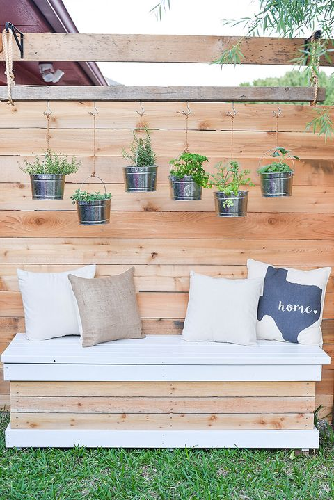 diy storage bench small backyard project