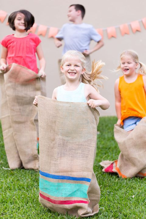 diy painted potato sack race bags best outdoor games