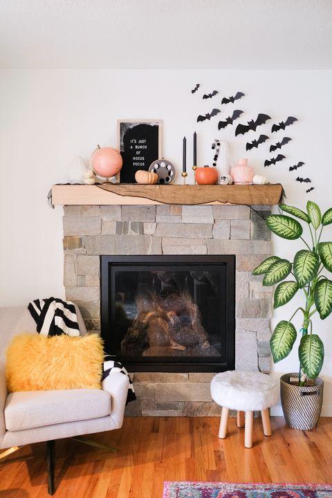 diy paper bats indoor halloween decorations