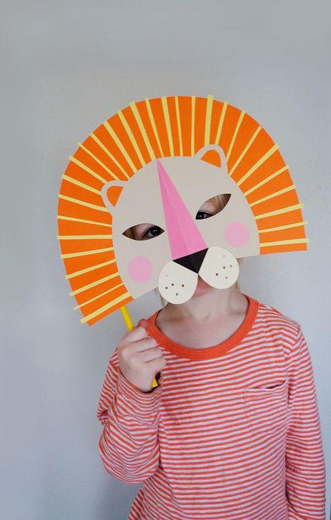 diy paper lion mask halloween