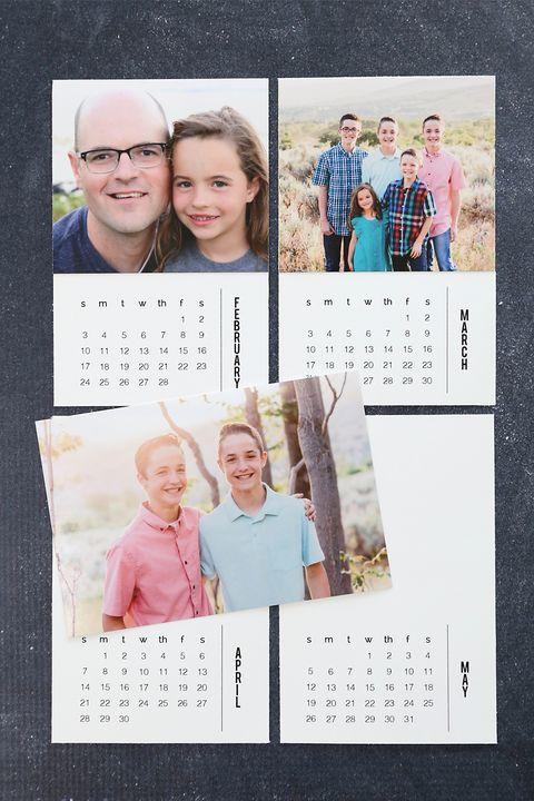 calendar of photos diy christmas gifts
