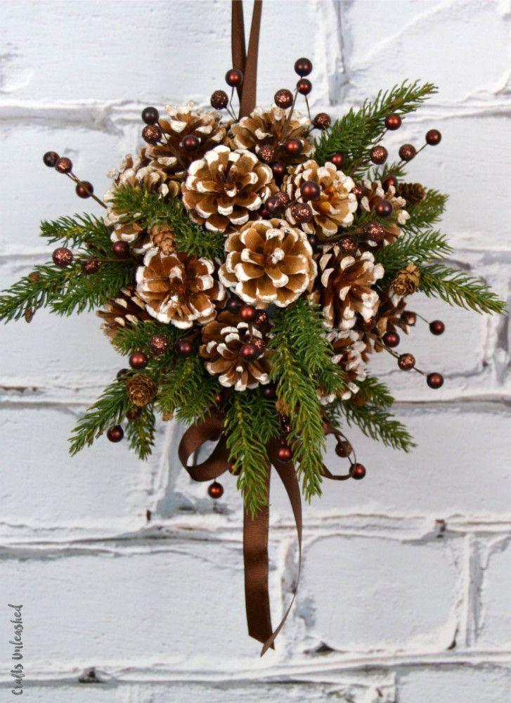 32 Pine Cone Crafts Diy Christmas Decorations Ornament Ideas