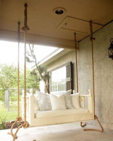 16 Porch Swing Plans Diy, Patio Bed Swing