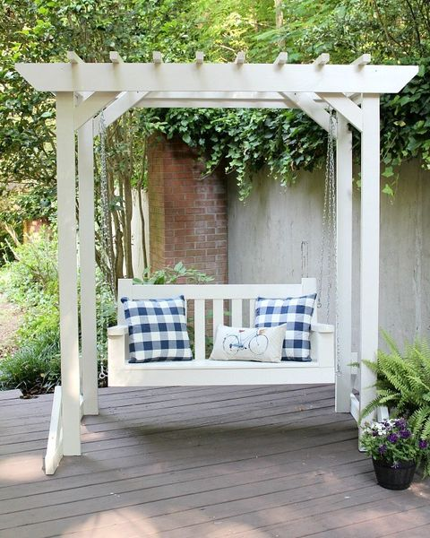 16 Porch Swing Plans Diy, Outdoor Swing Bench With Stand