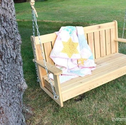 diy porch swing tree