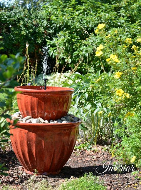 diy pot water fountain