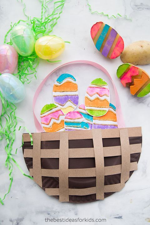 potato easter egg stamp kids craft