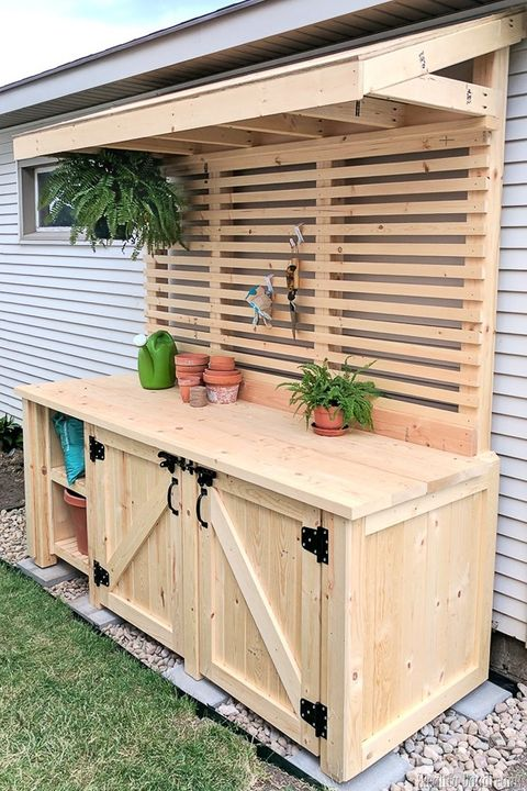 15 Diy Potting Bench Plans How To Make A Potting Bench