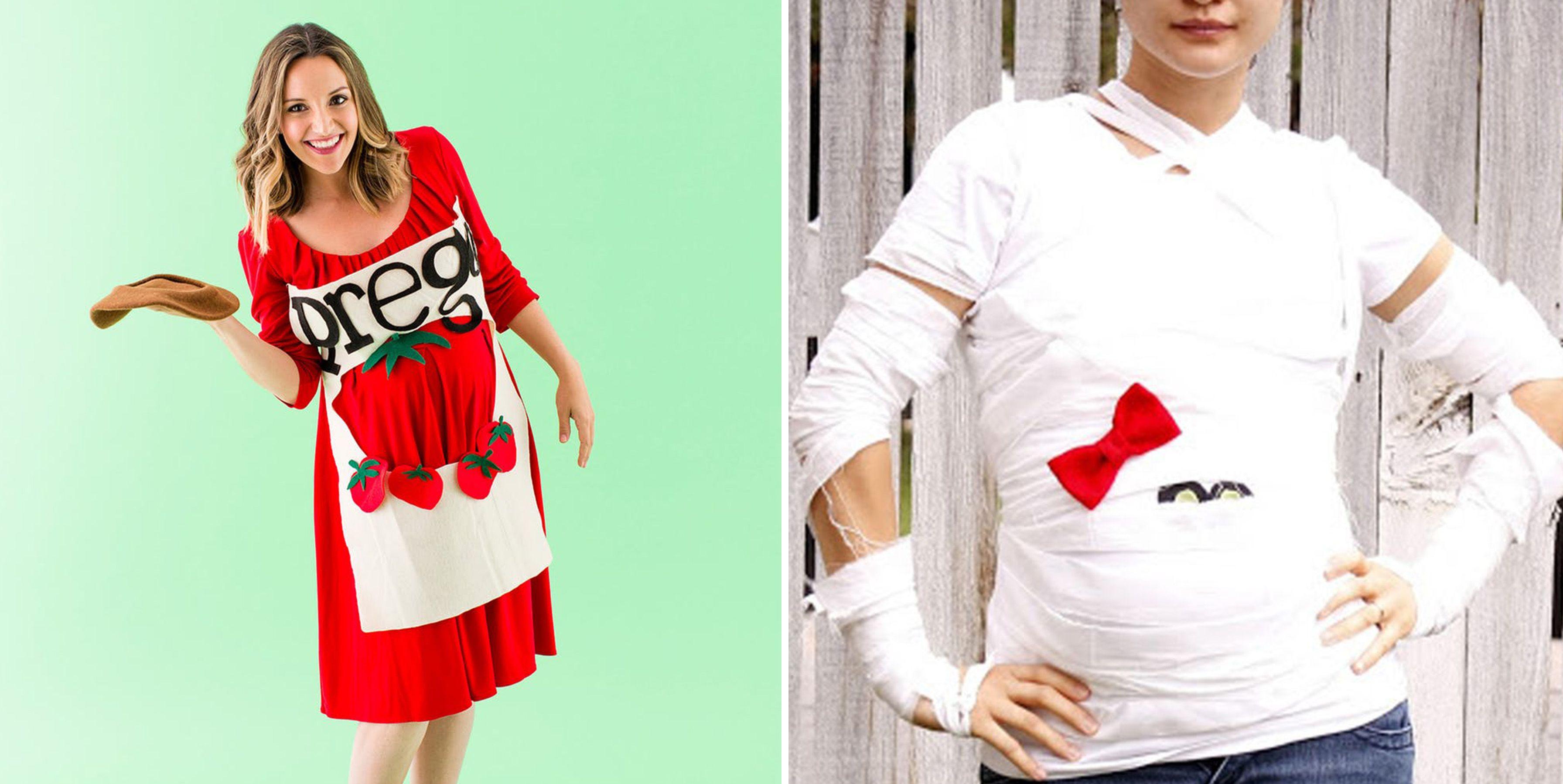 13 funny pregnant women halloween costumes   cute