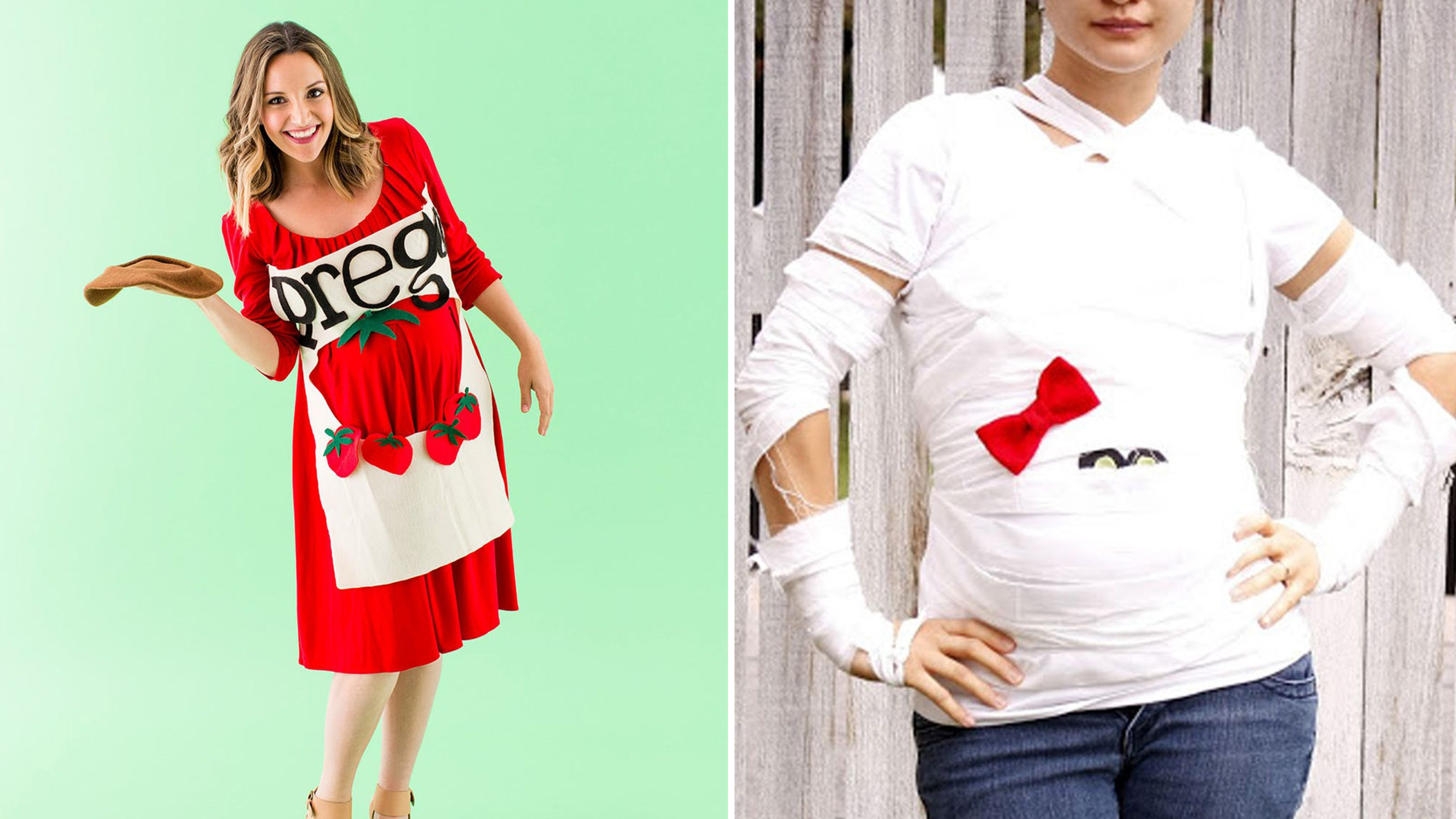 diy pregnant halloween costumes  sc 1 st  Country Living Magazine & 13 Funny Pregnant Women Halloween Costumes - Cute Maternity Costume ...