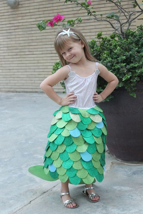diy princess costume mermaid