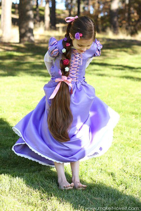 diy princess dress rapunzel halloween costume