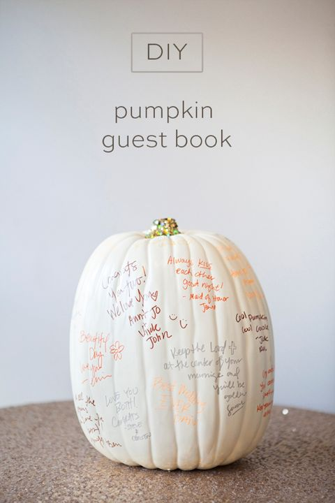 halloween baby shower pumpkin guest book