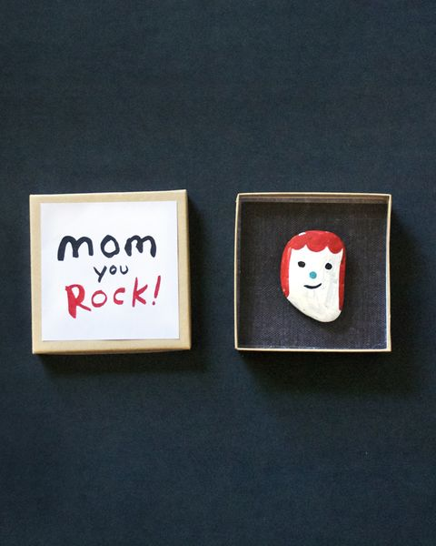 diy rock mothers day craft from kids