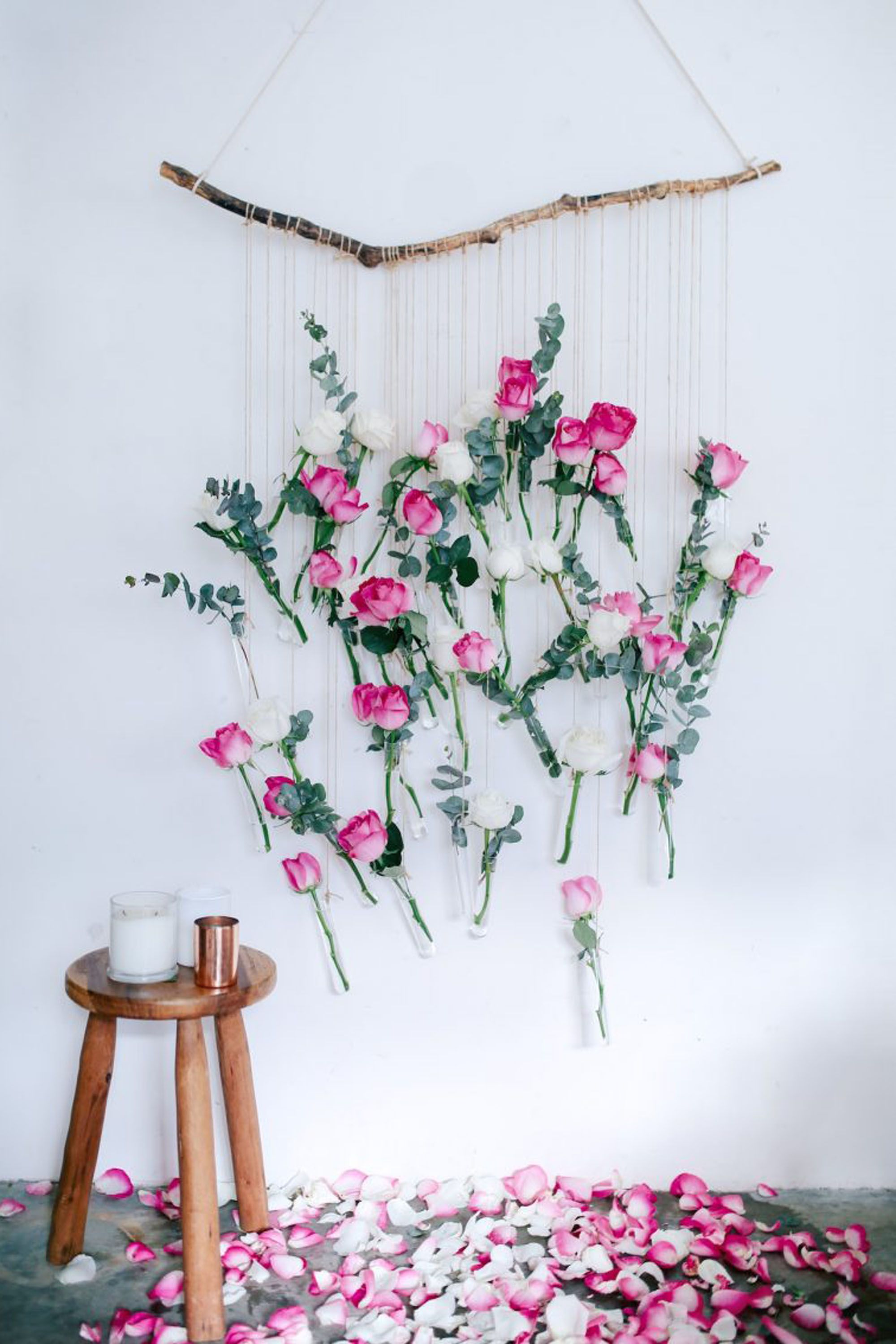rose floral wall hanging