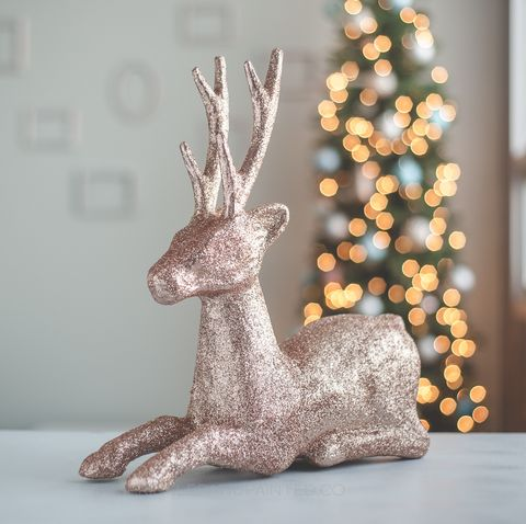 rose gold christmas decorations reindeer