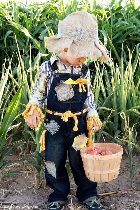 no sew kids scarecrow costume