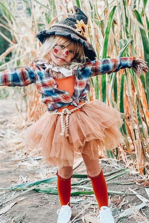 diy scarecrow costume  tutu scarecrow toddler