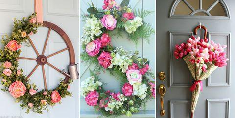 25 diy spring wreaths how to make a spring wreath yourself diy spring wreaths mightylinksfo