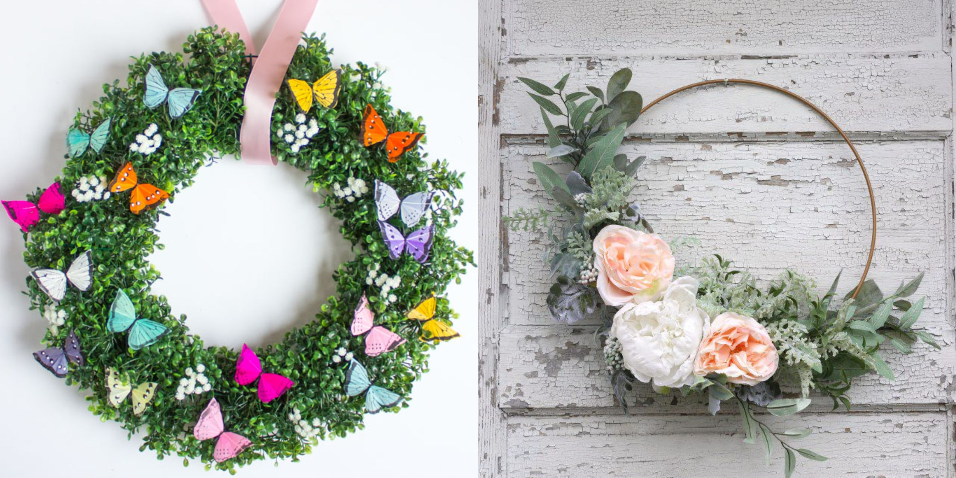 7e62f441a 30+ DIY Spring Wreaths - How to Make a Spring Wreath Yourself