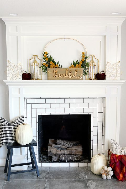 diy thanksgiving crafts mantel decor