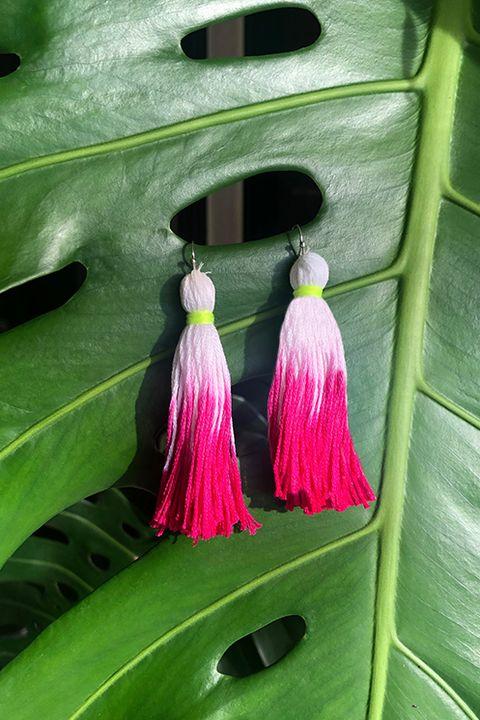 diy tie dye ideas tassel earrings