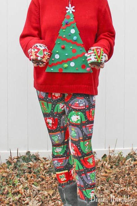 Christmas Tree Ugly Sweater Diy.19 Diy Ugly Christmas Sweater Ideas Best Ugly Christmas