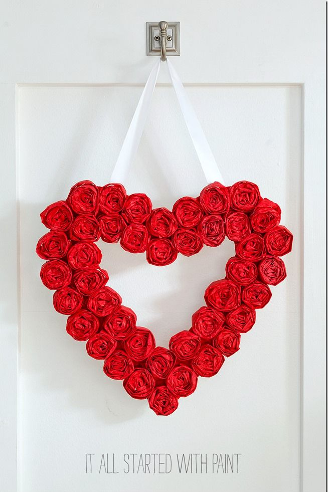 diy valentine gifts wreath