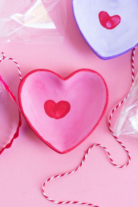 fingerprint heart trinket dish