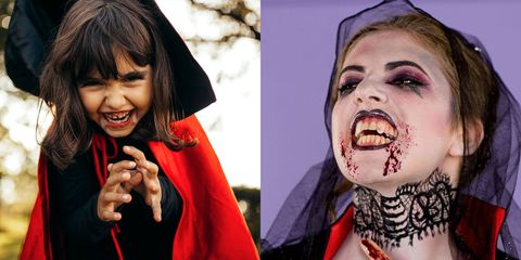 Disfraz de halloween vampiro bricolaje