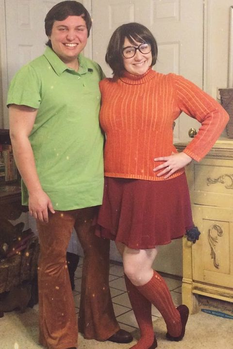 diy velma and shaggy scooby doo costumes
