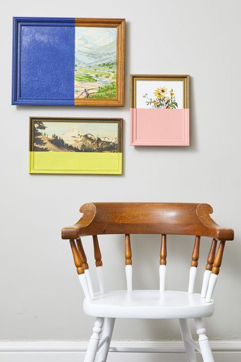 DIY Wall Decor Ideas - Half Painted Wall Art