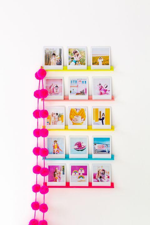 DIY Wall Decor Ideas - Mini Photo Ledge