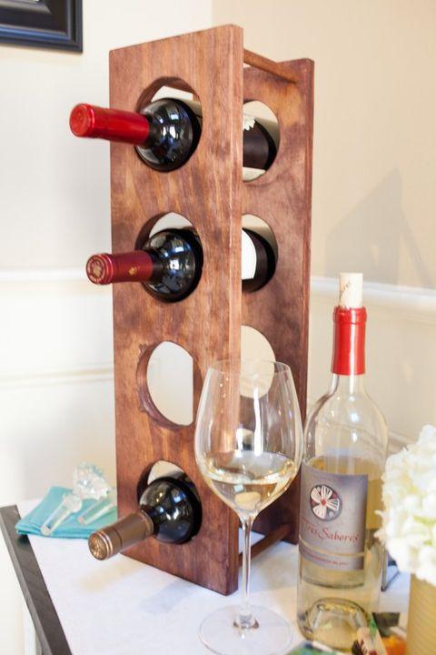 diy circular wine rack