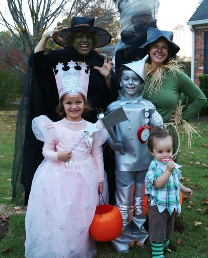 diy wizard of costume family