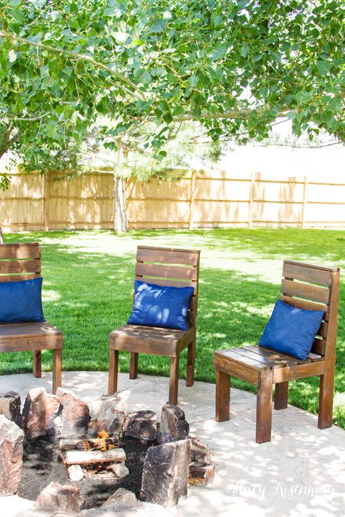 diy backyard wood chairs & 82 DIY Backyard Design Ideas - DIY Backyard Decor Tips