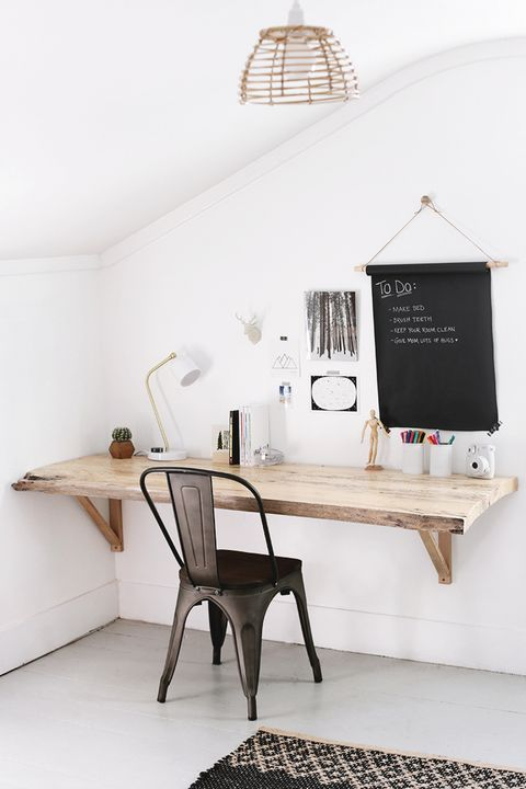 diy wood slab desk
