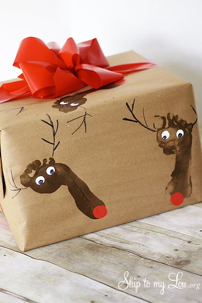 Gift Wrapping Ideas Reindeer Wrapping Paper
