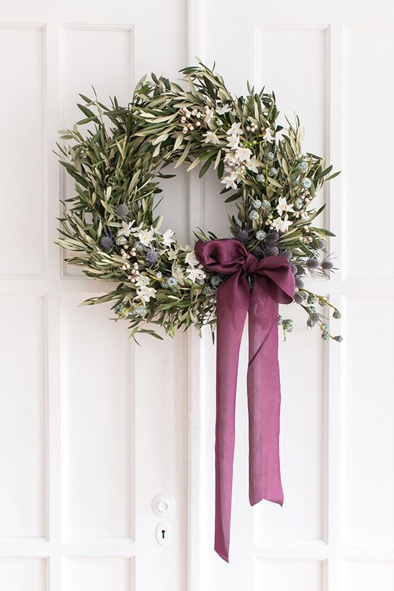 diy wreath ideas ribbon