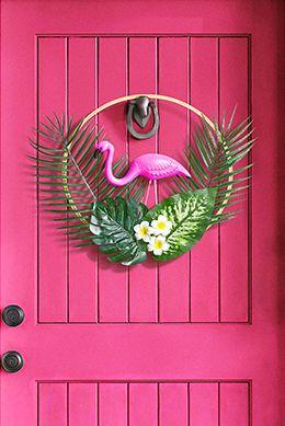 diy wreaths flamingo wreath